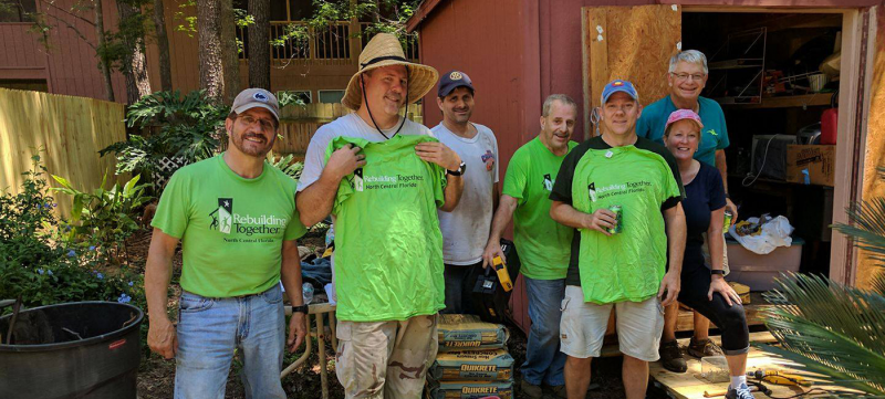 Rotary Club of Gainesville volunteers for Rebuilding Together project